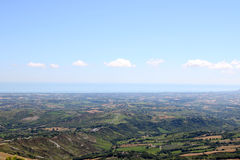 San Marino and Adriatic sea Royalty Free Stock Photo