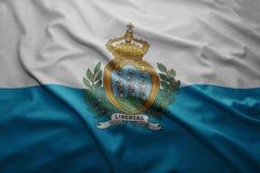 San marino bandery Obrazy Stock