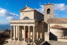 San Marino basilica. Front of Basilica of San Marino, Italy Royalty Free Stock Photos