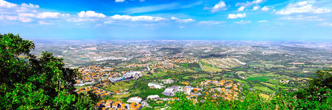 San-Marino Bird-eye view. Italy. Panorama stock photo