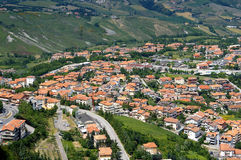 San Marino birdview. Italy Stock Photos
