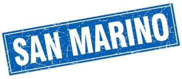 San Marino blue square grunge vintage stamp Royalty Free Stock Photos