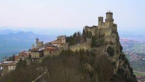 San marino, castle zbiory wideo