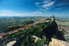 San Marino castle Stock Photography