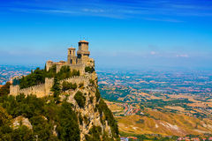San Marino castle stock images