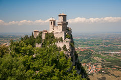 San Marino. Castle like a princess. Wonderful stock photos