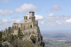 San Marino. Castle of San Marino (Fortress of Guaita) Royalty Free Stock Photos