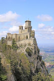 San Marino. Castle of San Marino (Fortress of Guaita) Royalty Free Stock Photo