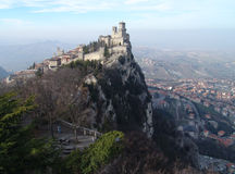 San Marino. Castle of San Marino (Fortress of Guaita) Stock Photo