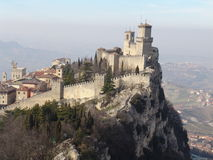 San Marino. Castle of San Marino (Fortress of Guaita) Stock Photos
