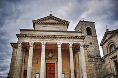 Free San Marino Cathedral Under A Grey Sky Stock Image - 62436111