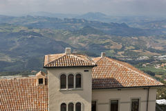 San Marino and Central Italy rural landscape, view from above Royalty Free Stock Images