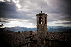 San Marino Church. In the borgo maggiore city. In the Mount Titano Royalty Free Stock Photos