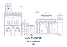 San Marino City Skyline Image stock