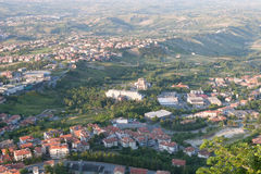 San-Marino Cityscape Royalty Free Stock Photos