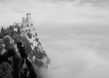 San Marino in the clouds royalty free stock images