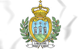San Marino Coat of Arms. 3D Illustration Royalty Free Stock Photos