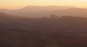 San Marino at Dusk Stock Images
