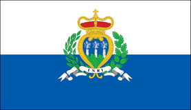San Marino flag Stock Images