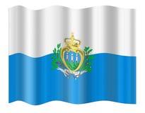 San Marino Flag Stock Image