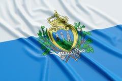 San Marino Flag Lizenzfreies Stockbild