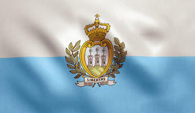 San Marino Flag Royalty-vrije Stock Foto