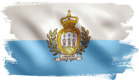 San Marino Flag Immagini Stock