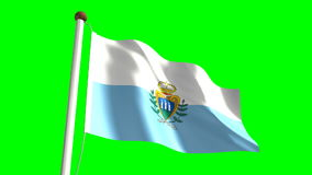 San Marino flag stock footage