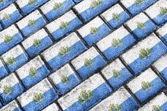 San Marino Flag Urban Grunge Pattern Stock Image