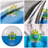 San Marino Flag Waving Image stock