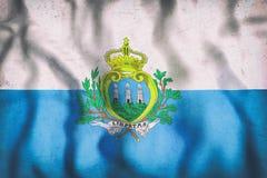 San Marino flag waving Stock Image