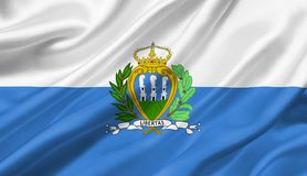 San Marino flag waving with the wind, 3D illustration. 3D rendering Stock Photo