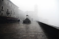 San Marino in the fog Stock Image