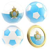 San Marino football team attributes isolated Royalty Free Stock Image