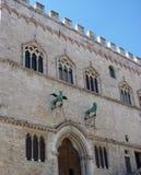 San Marino forntida bulding Royaltyfri Bild