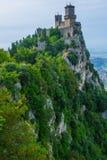 San Marino forteca blisko Rimini fotografia royalty free