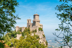 San Marino. Fortified Castle in San Marino Royalty Free Stock Images