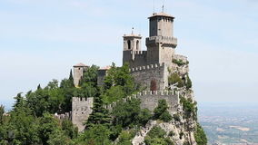 San Marino fortress stock footage