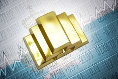 San marino gold reserves Stock Image