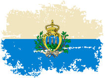 San Marino grunge flag. Vector illustration. Royalty Free Stock Photography
