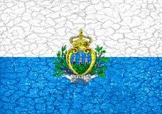 San Marino Grunge Style National Flag Stock Photography