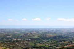 San Marino i Adriatycki morze Zdjęcie Royalty Free