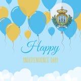 San Marino Independence Day Flat Greeting kort Vektor Illustrationer