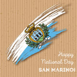 San Marino Independence Day Patriotic Design Image libre de droits