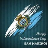 San Marino Independence Day Patriotic Design Fotos de archivo libres de regalías
