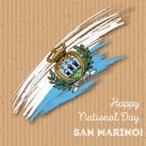 San Marino Independence Day Patriotic Design. Royalty Free Stock Image