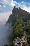 San Marino, Italia - 15 ottobre 2016: Seconda torre: il Cesta o il Fratta Fotografia Stock