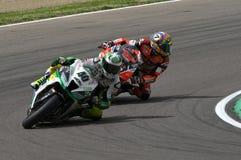San Marino Italien - Maj 12: Laget för Romà ¡ n Ramos ESP Kawasaki ZX-10R GÅR ELVA i handling Royaltyfria Bilder