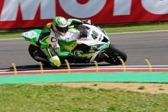 San Marino Italien - Maj 12: Laget för Romà ¡ n Ramos ESP Kawasaki ZX-10R GÅR ELVA i handling Fotografering för Bildbyråer