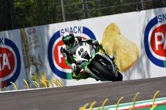 San Marino Italy - 11 mai 2018 : ¡ N Ramos EN PARTICULIER Kawasaki ZX-10RR Team GoEleven Kawasaki Team de RomÃ, dans l'action image stock